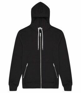 Reiss Avery - Zip Hoodie in Navy, Mens, Size XXL