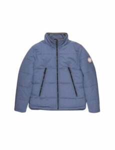 Mens Blue Cedar Funnel Neck Padded Jacket, Blue