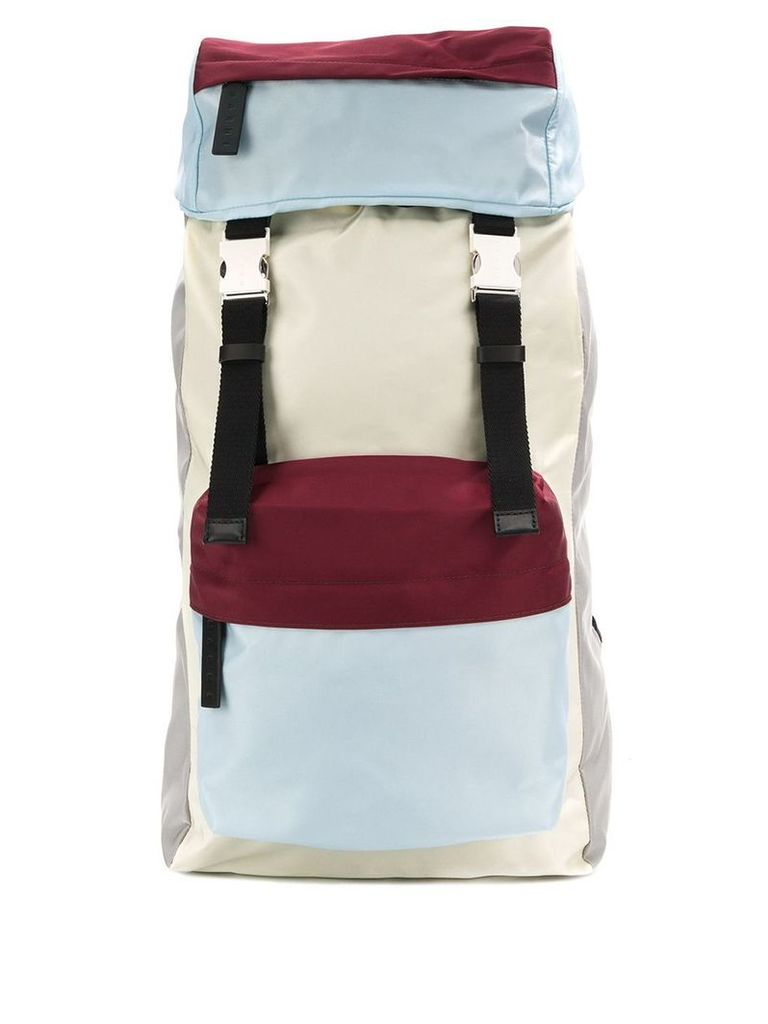 Marni colour block backpack - White