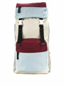Marni colour block backpack - White