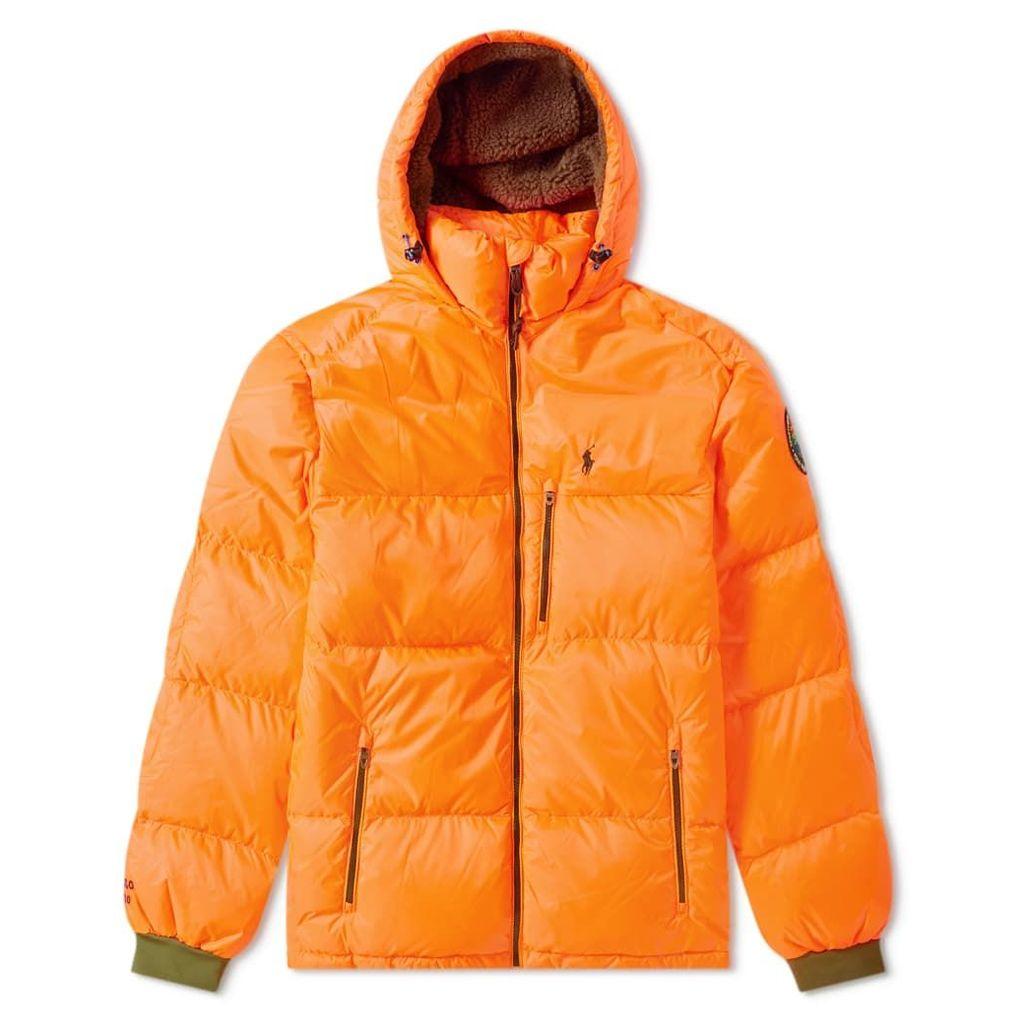 Polo Ralph Lauren Hooded Down Jacket Shocking Orange