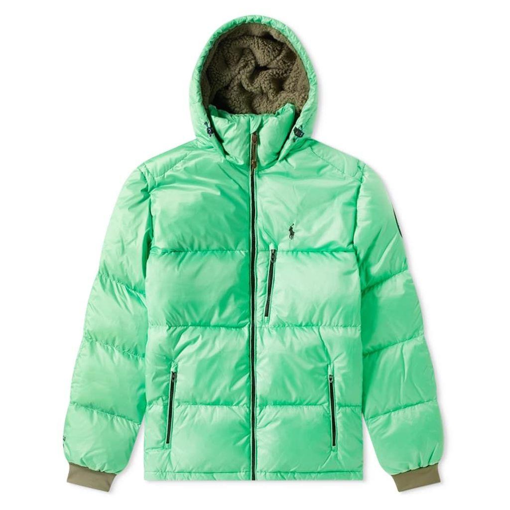 Polo Ralph Lauren Hooded Down Jacket Neon Green