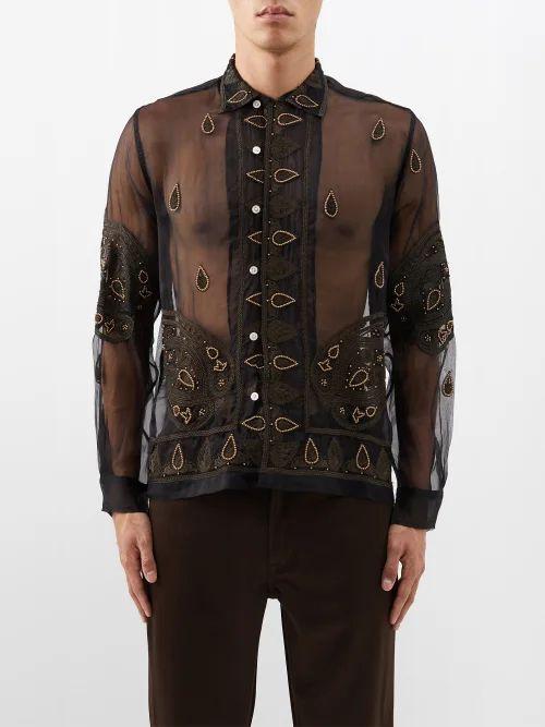 Calvin Klein 205w39nyc - Side Stripe Slim Leg Trousers - Mens - Pink