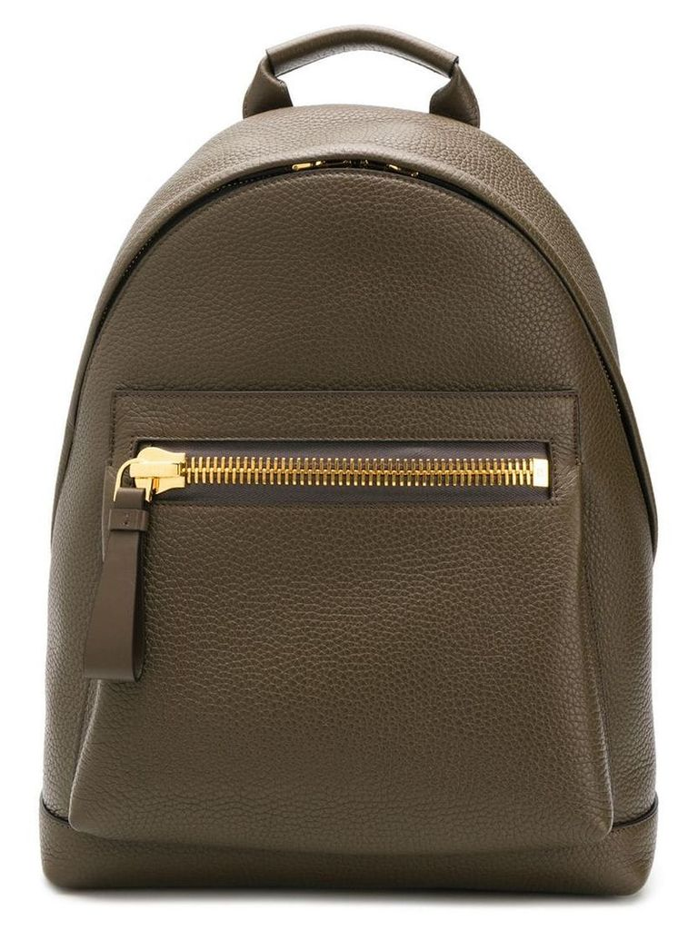 Tom Ford large zipper backpack - Brown