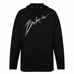 Balmain Signature Logo Hooded Sweatshirt