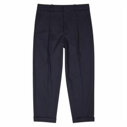 Acne Studios Pierre Navy Stretch-cotton Trousers