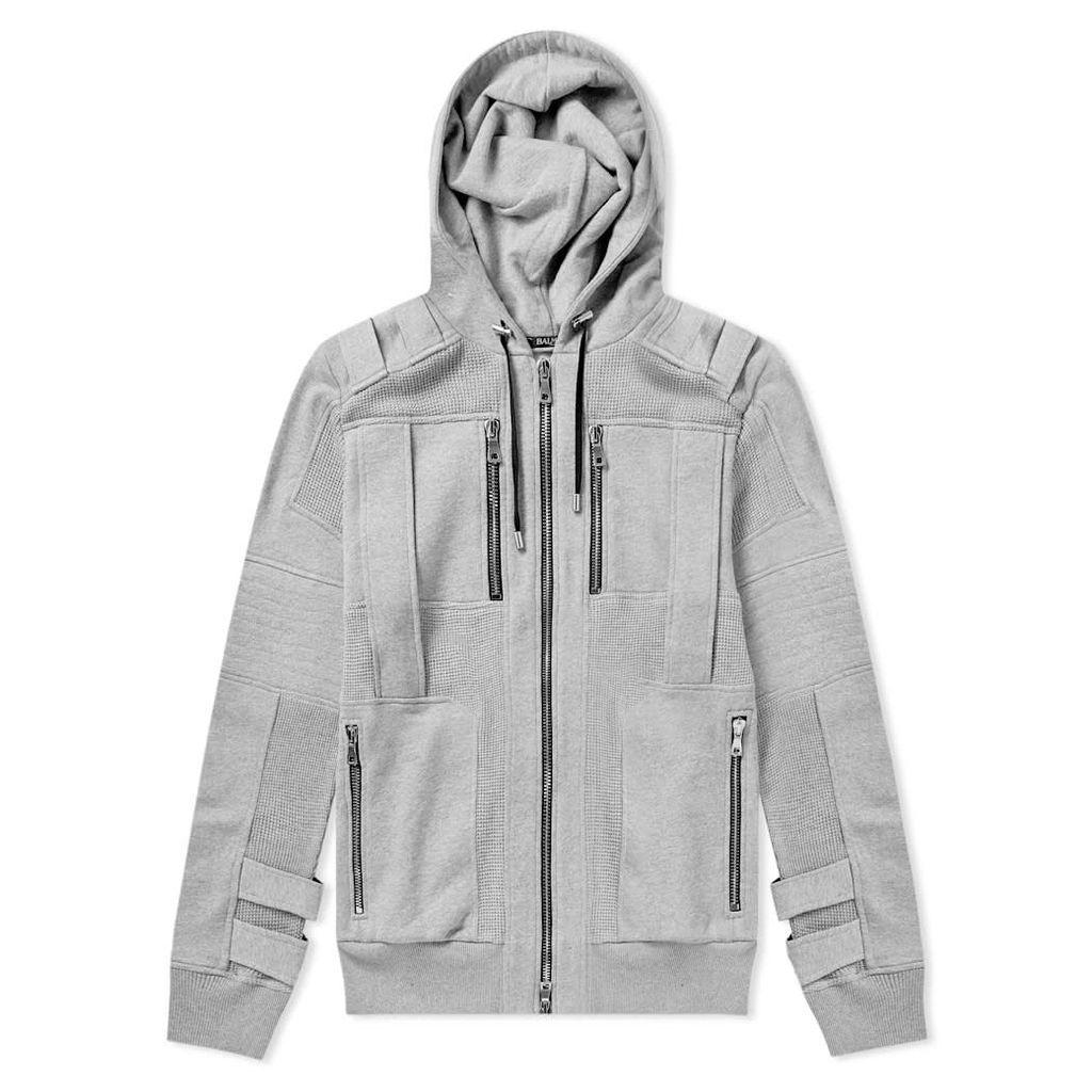 Balmain Zip Hoody Grey