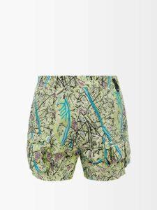 Commas - Straight Leg Linen Blend Trousers - Mens - Dark Grey