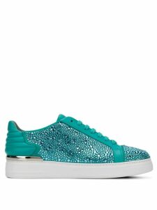 Philipp Plein embellished low-top sneakers - 07 Light Blue