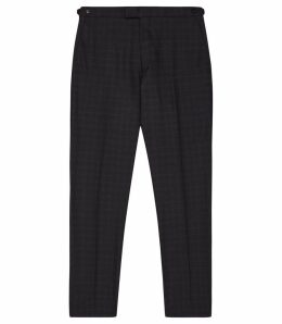 Reiss Gritton - Wool Blend Slim Fit Trousers in Navy, Mens, Size 38