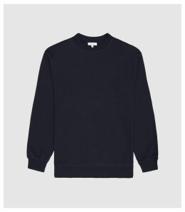 Reiss Cameron - Trim Detail Sweatshirt in Navy, Mens, Size XXL