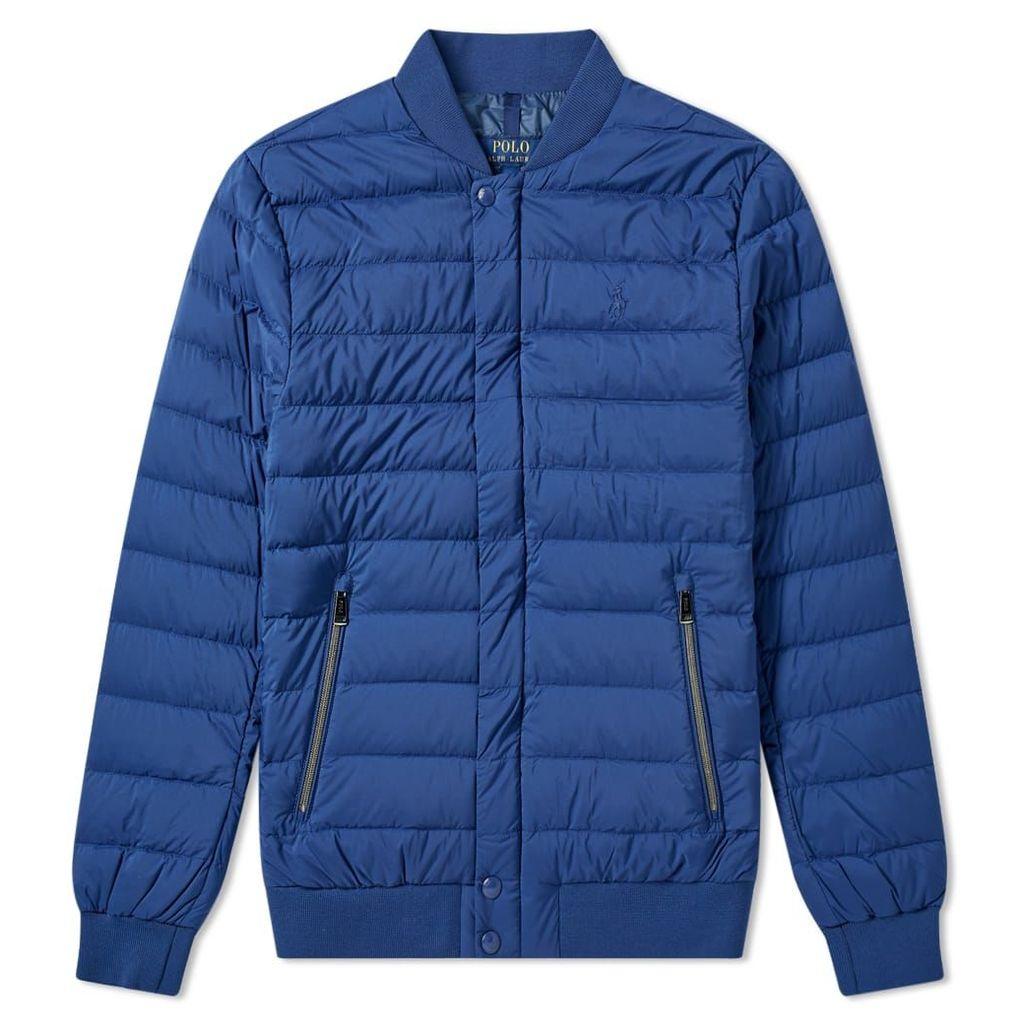 Polo Ralph Lauren Lightweight Down Bomber Jacket Annapolis Blue