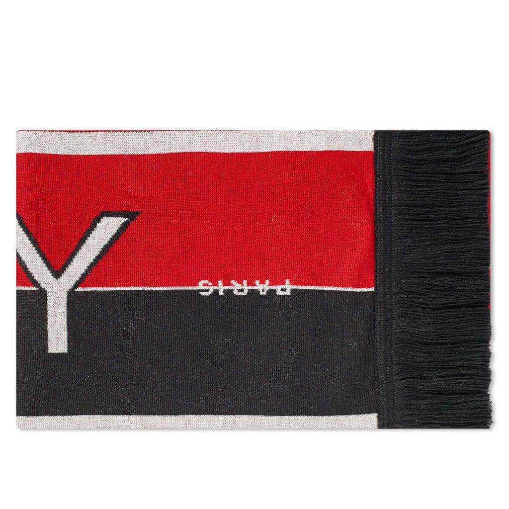 Givenchy Logo Football Scarf Black & Red