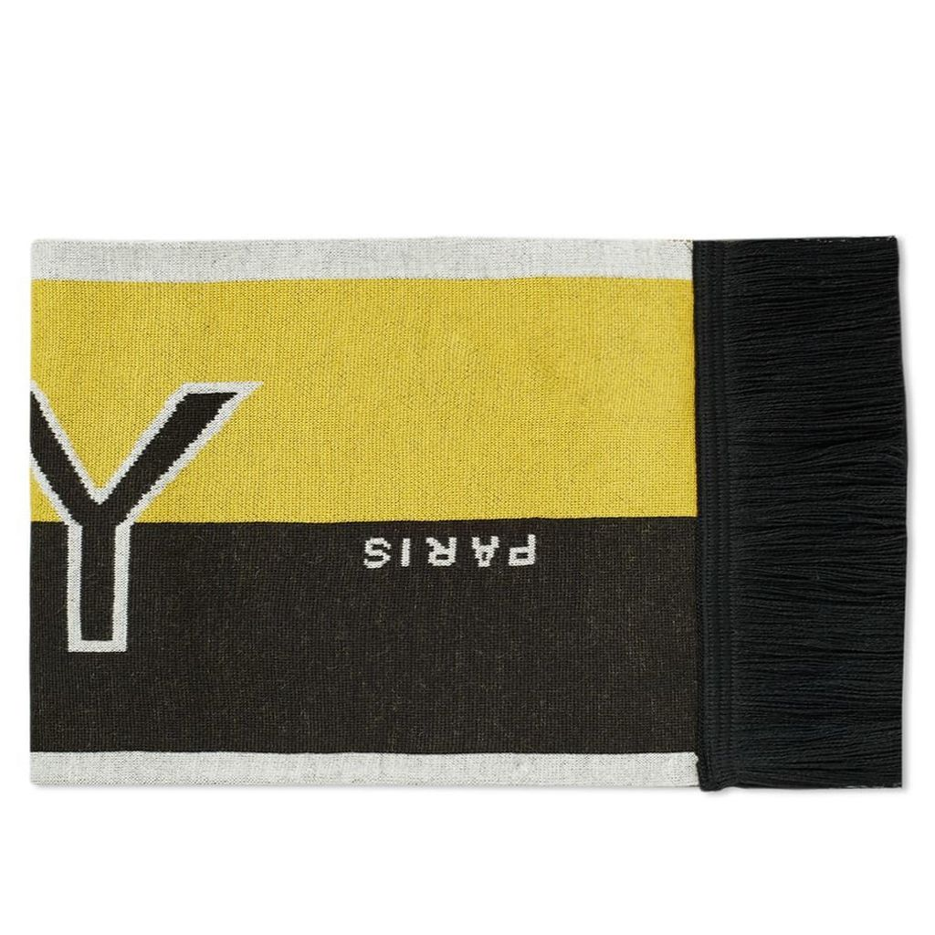 Givenchy Logo Football Scarf Black & Yellow