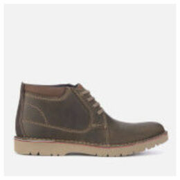 Clarks Men's Vargo Mid Leather Chukka Boots - Olive - UK 11 - Brown