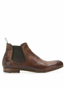 Lidfort elastic ankle boots - Brown