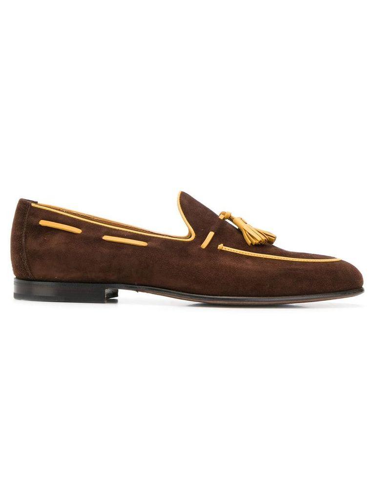 Moreschi classic tassel loafers - Brown