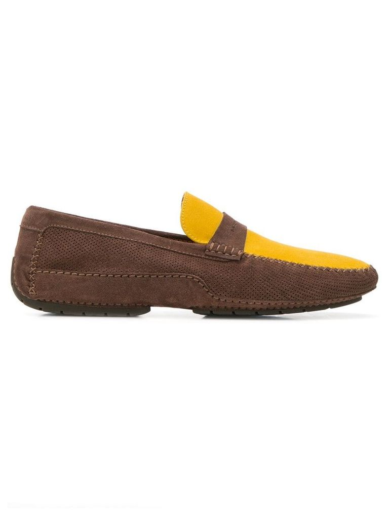 Moreschi classic colour-block loafers - Brown