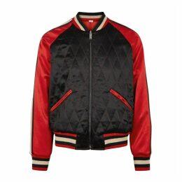 Gucci Reversible Satin Souvenir Jacket