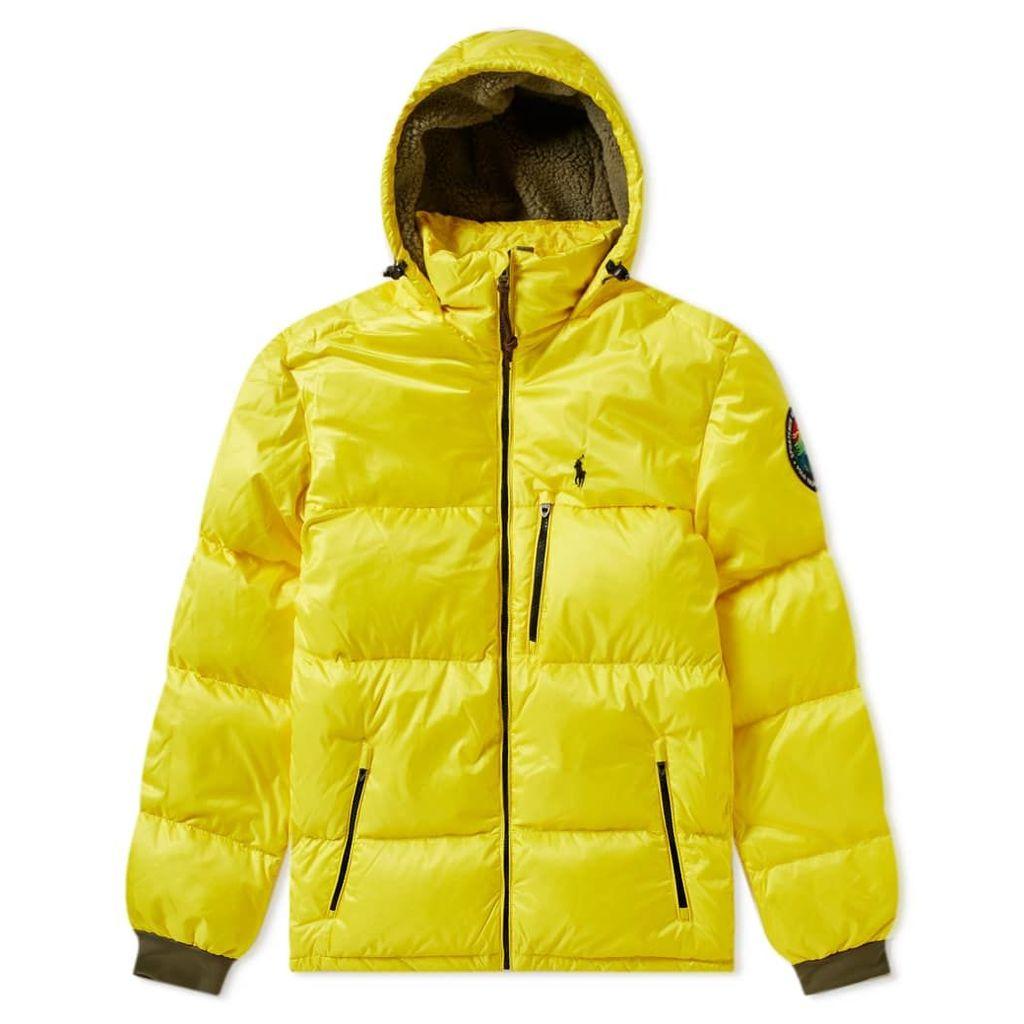 Polo Ralph Lauren Hooded Down Jacket Lemon Crush