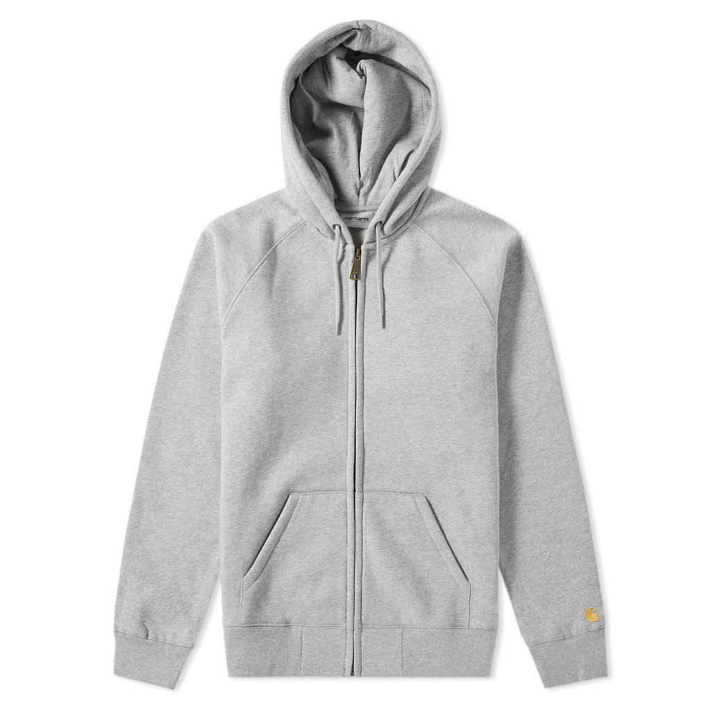 Carhartt Hooded Chase Jacket Grey Heather & Gold