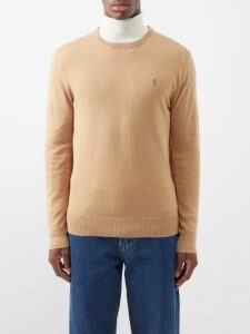 Valentino - Rockstud Embellished Cotton Blend Sweatshirt - Mens - Grey