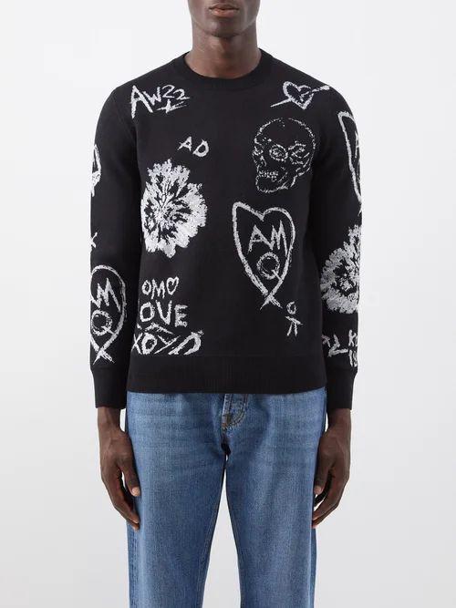 Wooyoungmi - Slim Leg Stretch Twill Trousers - Mens - Black