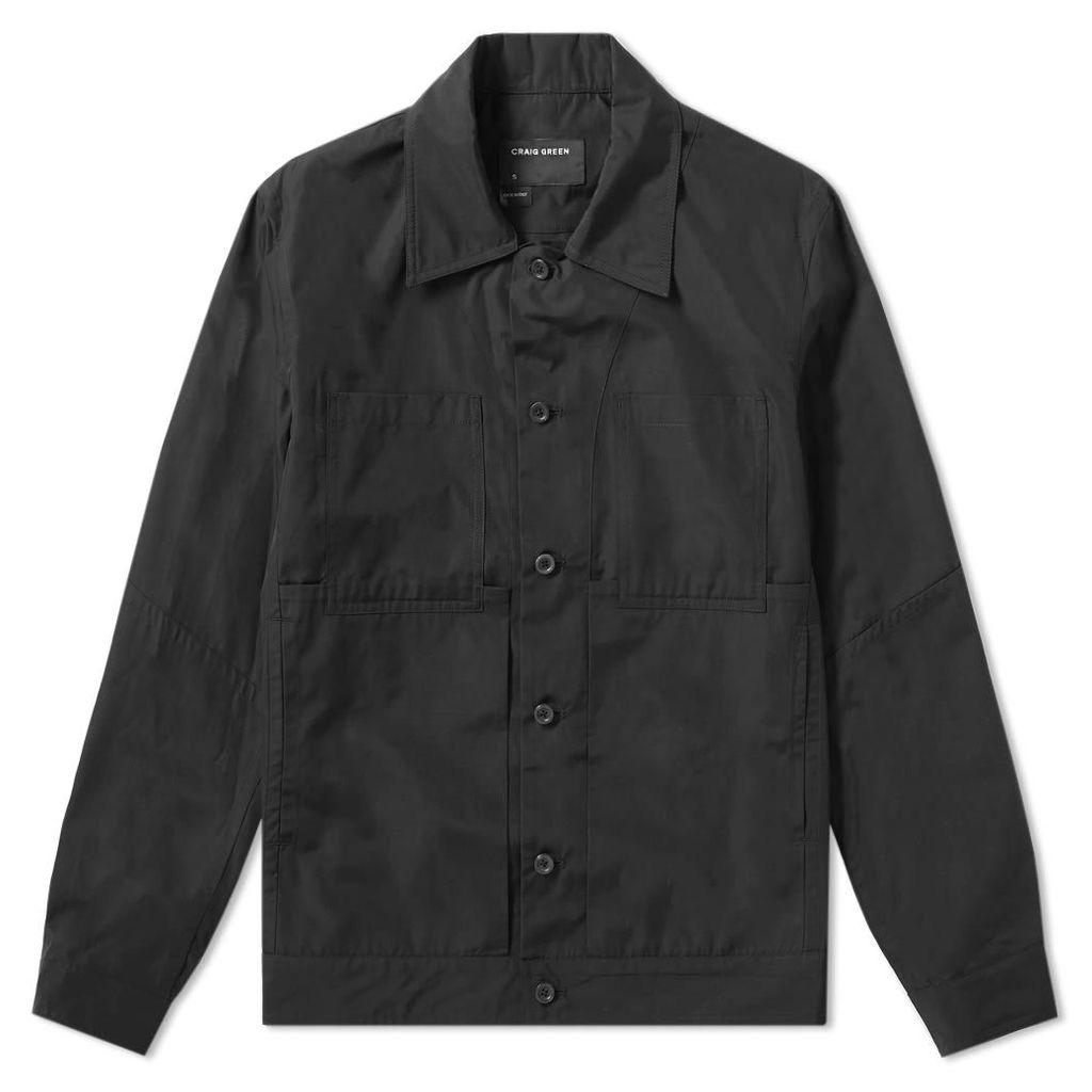 Craig Green Lightweight Cotton Worker Jacket Black