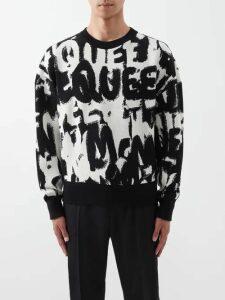 Balenciaga - Logo Print Cotton Hooded Sweatshirt - Mens - Black
