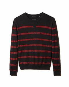 Atm Anthony Thomas Melillo French Terry Broken-Stripe Sweatshirt