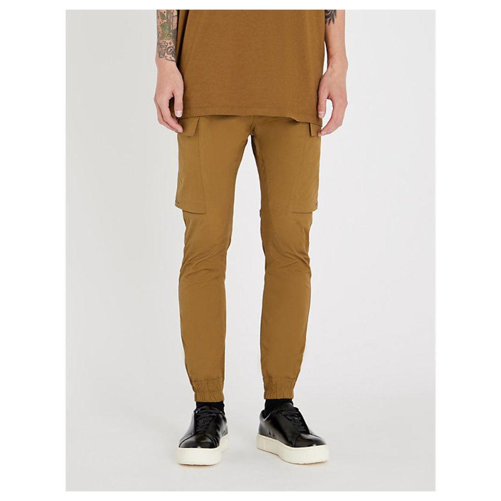 Cargo stretch-cotton jogging bottoms
