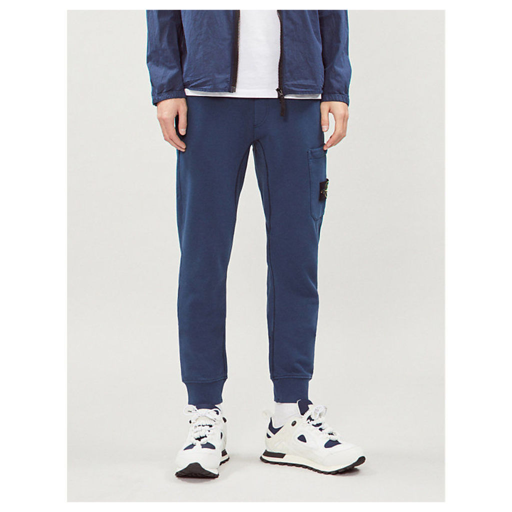 Relaxed-fit cotton-jersey jogging bottoms
