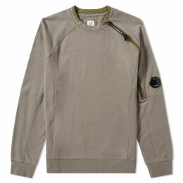 C.P. Company Articulated Zip Arm Lens Crew Sweat Olive