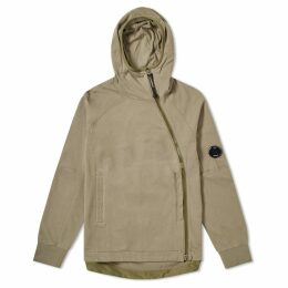C.P. Company Articulated Zip Arm Lens Pullover Hoody Olive
