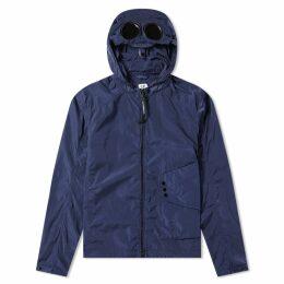 C.P. Company Chrome Goggle Hooded Shirt Jacket Navy