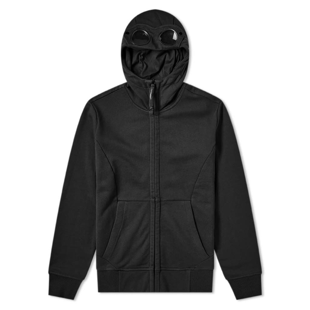 C.P. Company Heavyweight Fleece Goggle Zip Hoody Black
