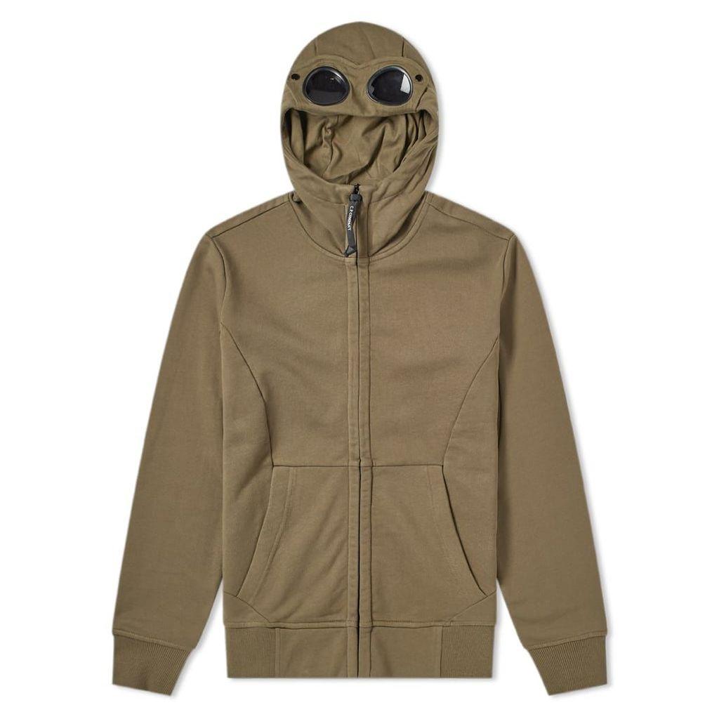 C.P. Company Heavyweight Fleece Goggle Zip Hoody Olive