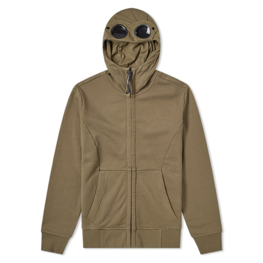 C.P. Company Heavyweight Fleece Goggle Zip Hoody Olive