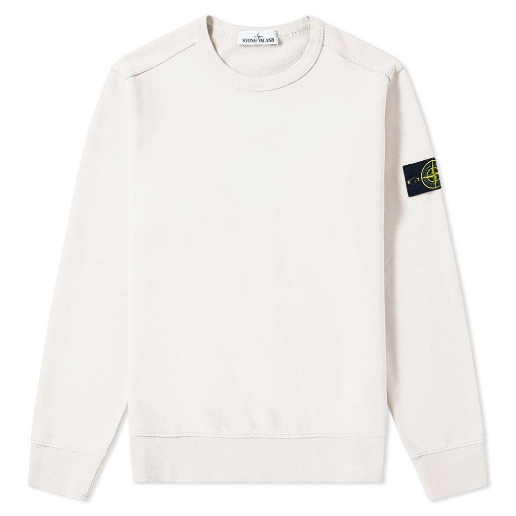 Stone Island Garment Dyed Crew Sweat Off White