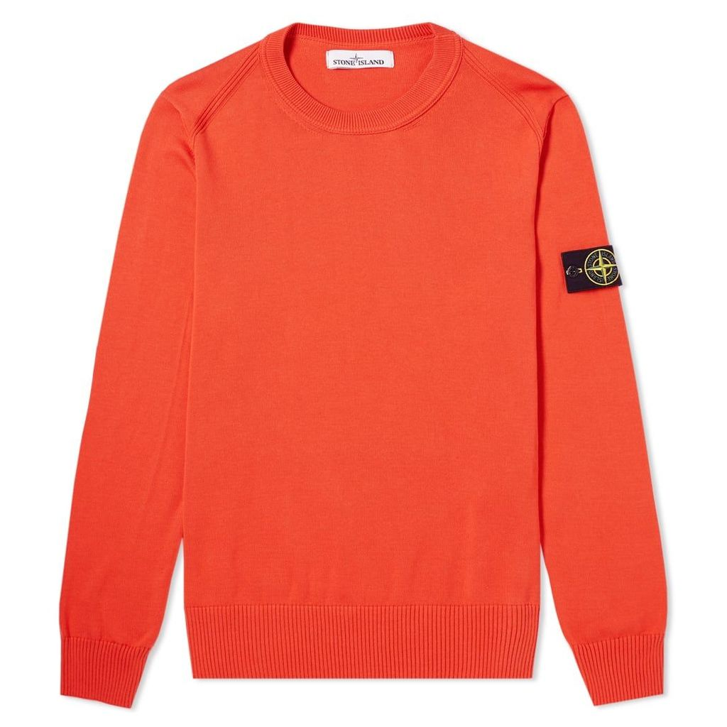 Stone Island Soft Cotton Crew Knit Coral