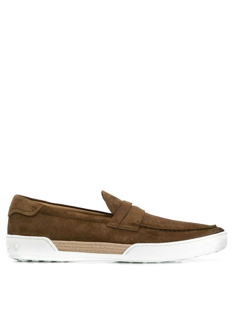 Tod's slip-on loafers - Brown