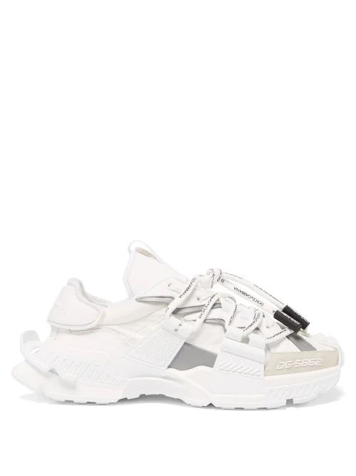 Prada - Zipped Cuff Cotton Track Pants - Mens - Navy Multi