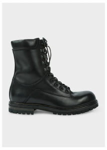 Men's Black Calf Leather 'Snow' Boots