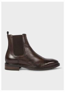 Men's Dark Brown Leather 'Jake' Chelsea Boots