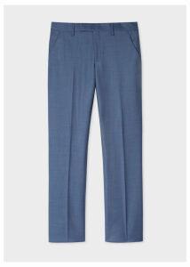 Men's Slim-Fit Slate Blue Wool Trousers