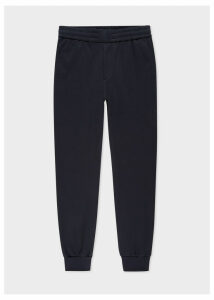 Men's Navy Stretch-Cotton Drawstring Trousers