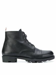 Thom Browne Panama Rubber Leather Derby Boot - Black