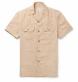 451315aa41 Brunello Cucinelli - Camp-collar Linen And Cotton-blend Shirt - Beige