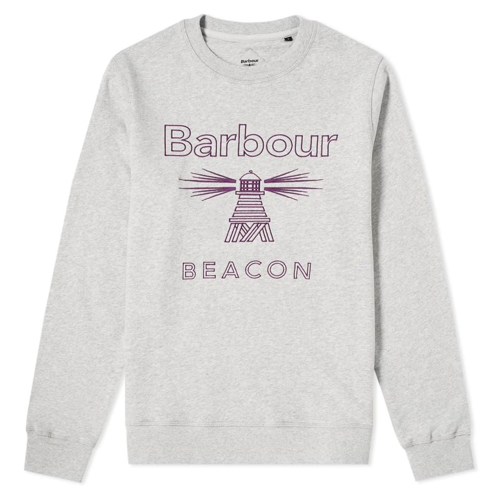 Barbour Beacon Stitch Crew Sweat Grey Marl