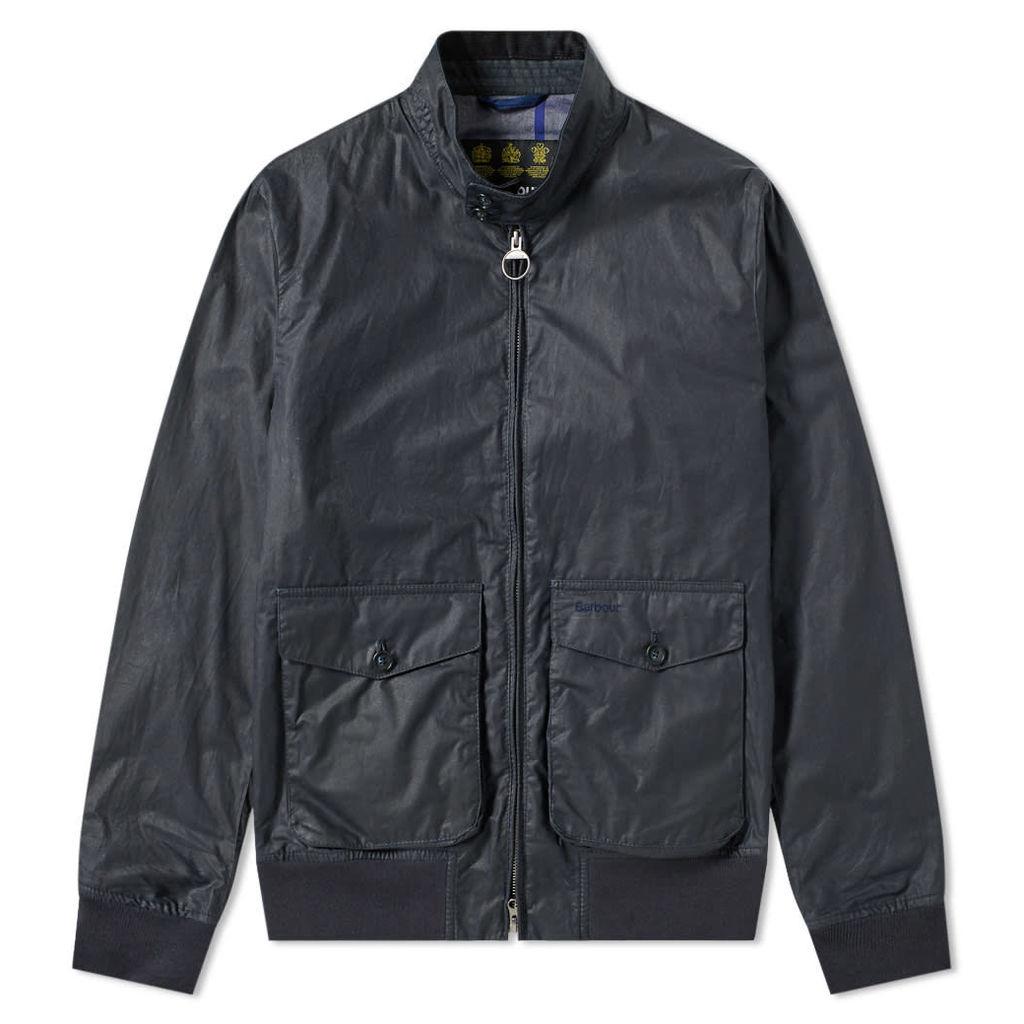 Barbour Erne Wax Jacket Royal Navy